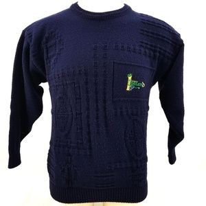 Other - Blarney Castle Designs Navy Blue Pullover Sweater